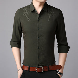 Man Korean Casual Shirt