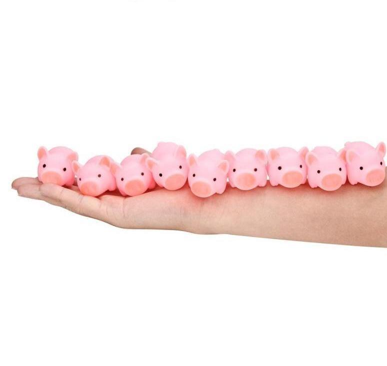 Rubber Pig Baby Bath Toy 20 PCS Pack - Narvay.com