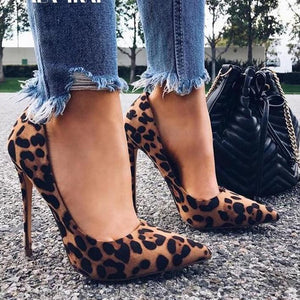 High Heels Leopard Shoes