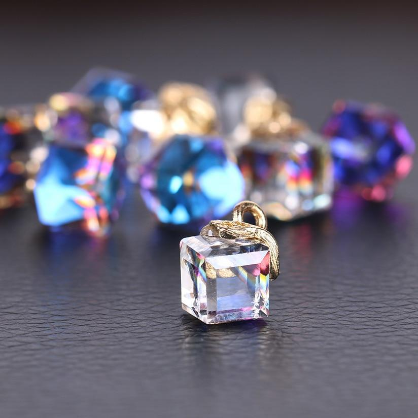 Jewelry Cube Glass Loose Beads - Narvay.com