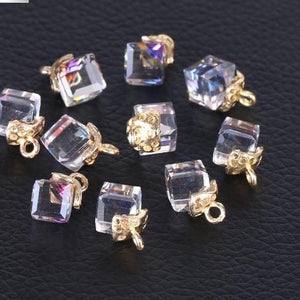 Jewelry Cube Glass Loose Beads