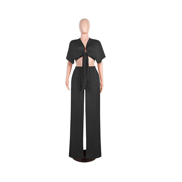 Tops Wide Leg Pants Sexy Nightclub