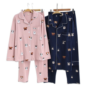 couple pajamas dogs indoor sleepwear