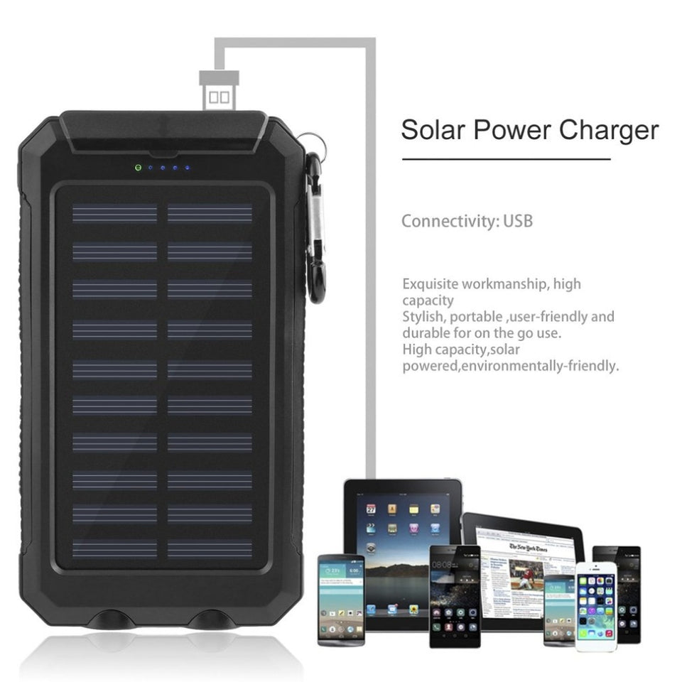 Summer WaterProof Solar Power Bank - Narvay.com