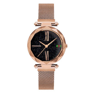 Luxury Rose Gold Women Watches With Magnet Buckle