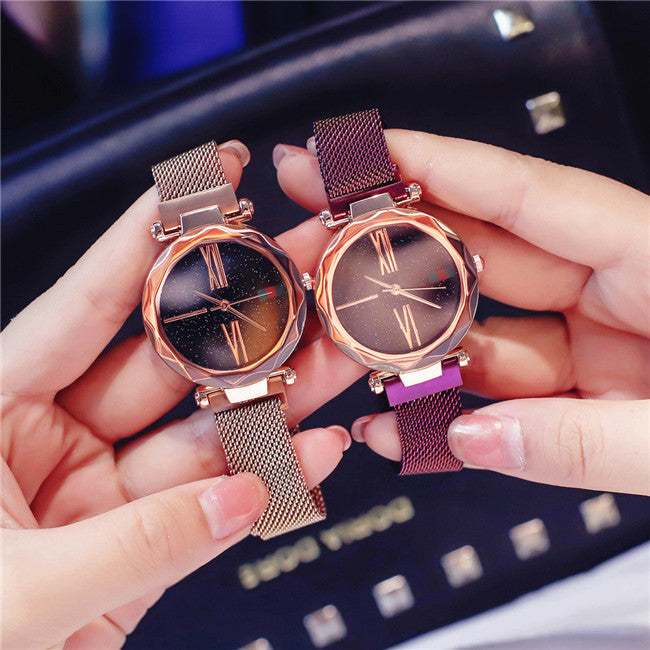 Luxury Rose Gold Women Watches With Magnet Buckle - Narvay.com