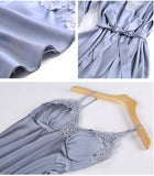 Women Pajamas 5 Pieces Satin Sleepwear