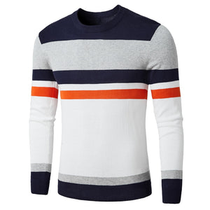 Autumn Fashion Casual Striped Cotton Sweater Men - Narvay.com