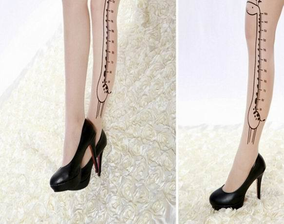 Knee Socks Long Tattoo Hosiery Stocking - Narvay.com