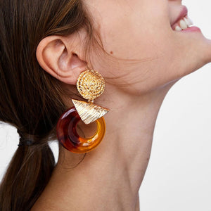 Elegant Shiny Dangle Statement Earrings