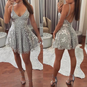 Sexy Cocktail Dresses Female Spaghetti Straps