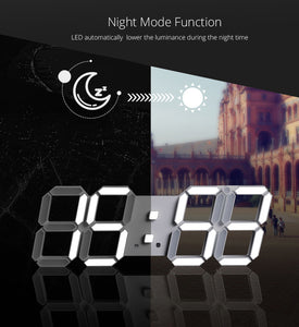 Nightlight Saat Wall Clock Watch