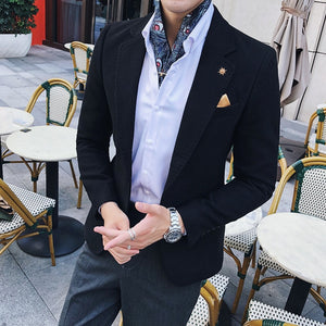 Solid Green Blazer Men  Autumn