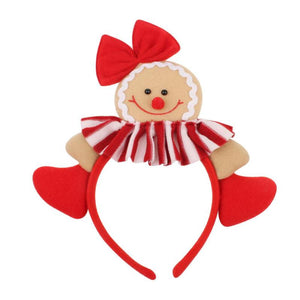 Christmas Women Men Cute Gingerbread Headband
