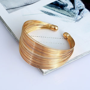 Metal Wire Cuff Bangle Women Fashion Brand