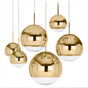 Ball Pendant Light Copper Silver Gold Globe - Narvay.com