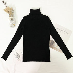 Turtleneck Sweater Women Thin Pullover Jumper