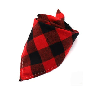 Winter Dog Cotton Plaid Washable
