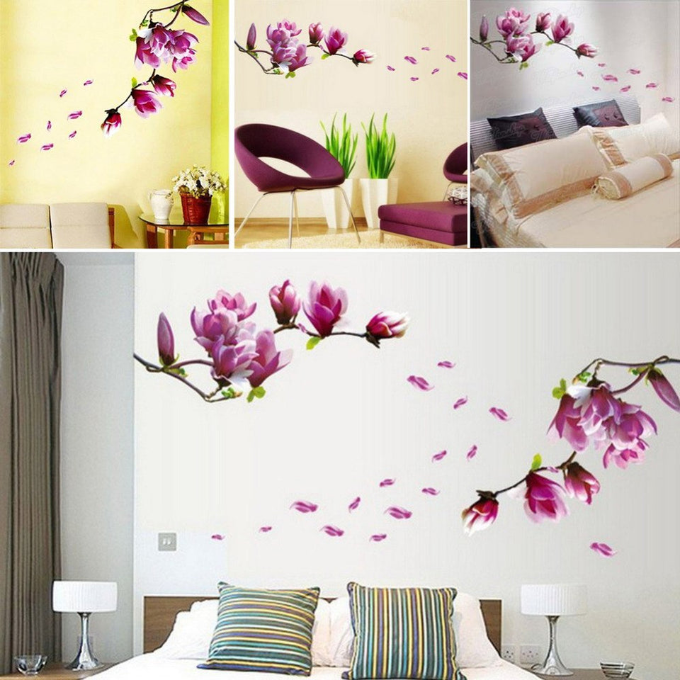 Blumen Magnolie Flower Decals Removable Art Decor