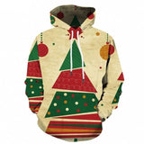 Red Hoodie Men Christmas Sweatshirt