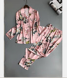 Women Pajamas Satin Sleepwear