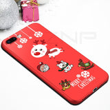 Silicone Christmas Santa Claus Cover For iPhone