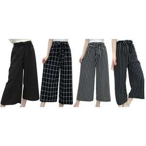 New Striped Style Black Loose High Waist
