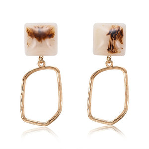 Women Irregular Tortoiseshell Earrings
