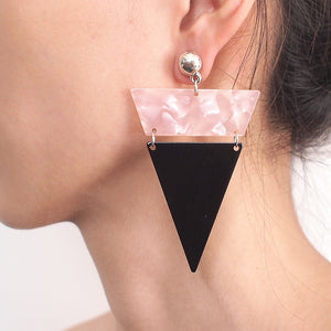 Trend Metal Triangle Dangle Earrings For Women