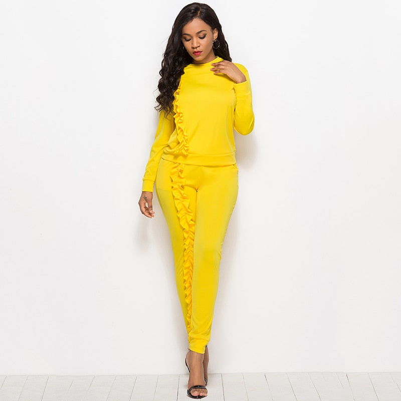 Tracksuit for Women O-neck Blouse