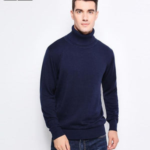 Sweaters Warm Slim Fit Turtleneck Men Pullover
