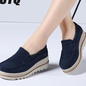 women shoes leather suede casual