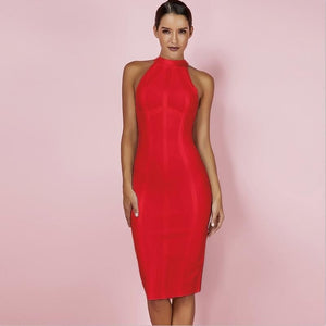Red Christmas Bandage New Year Dresses