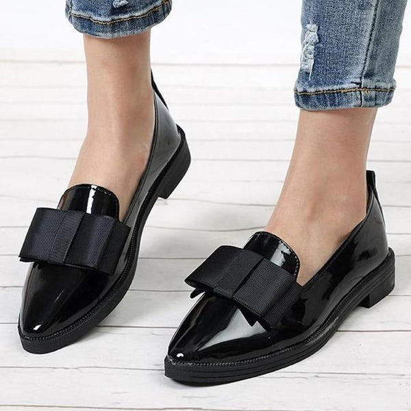 Buy Flats Women Shoes Loafers Patent Leather Online – Narvay.com
