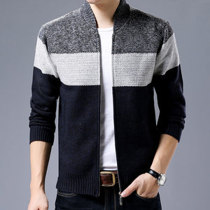 Casual Mandarin Collar Mens Coat