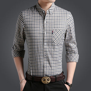 Checkered Casual Social Shirt Men