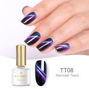 Holographic Chameleon Cat Eye Nail Gel