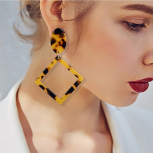 women Earrings Geometric Square