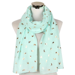 Scarf Women Scarves Luxury Shiny White