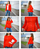 Ruffle Tiered Layer Outerwear Jackets