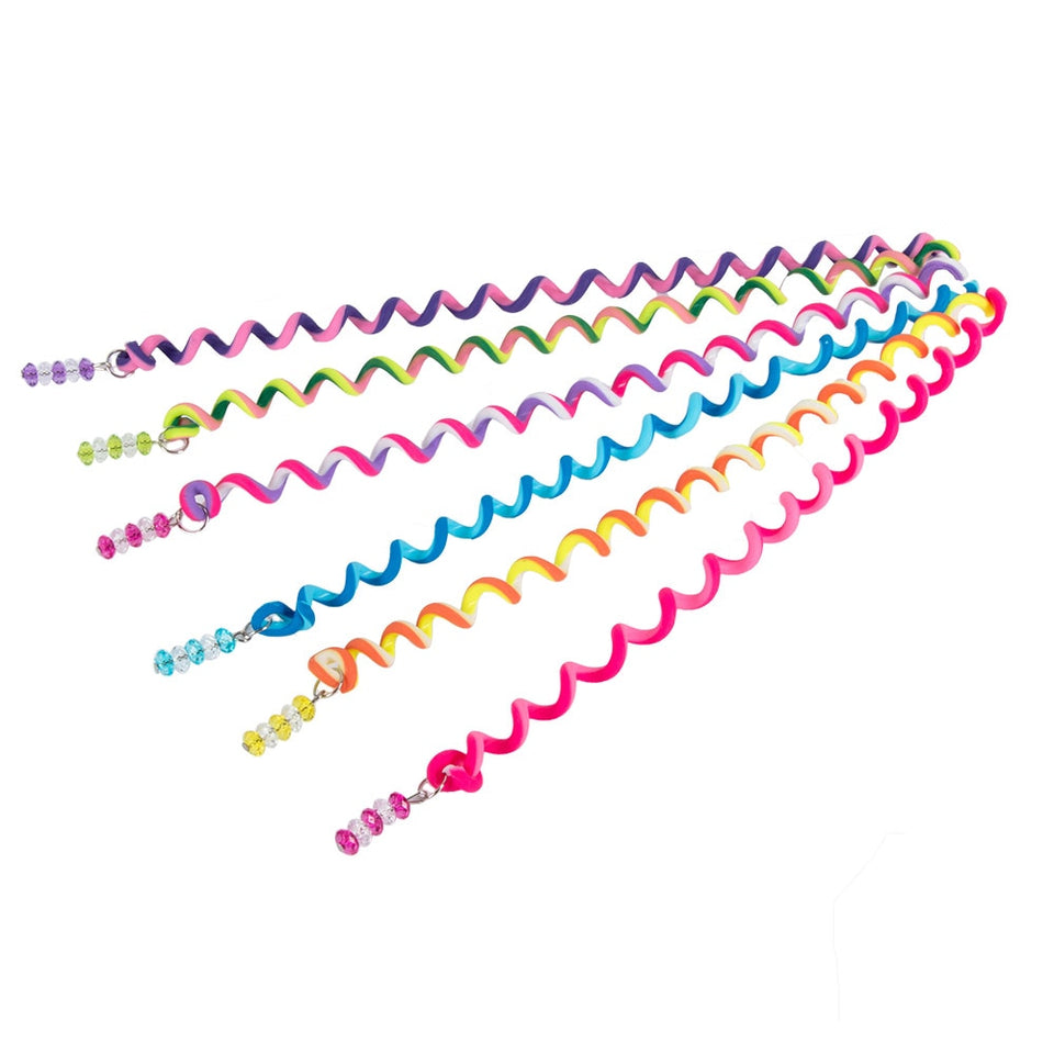 6Pcs/Set Plastic Spiral Shape Hair Braid - Narvay.com