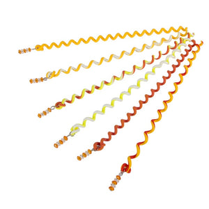 6Pcs/Set Plastic Spiral Shape Hair Braid