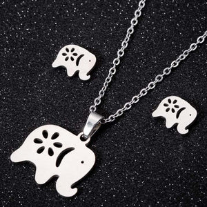 Animal Elephant Pendant Necklace