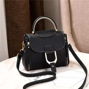 Women Leather Patchwork Ladies Bag