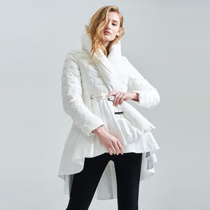 Hooded Cotton Coat Women Long Sleeve
