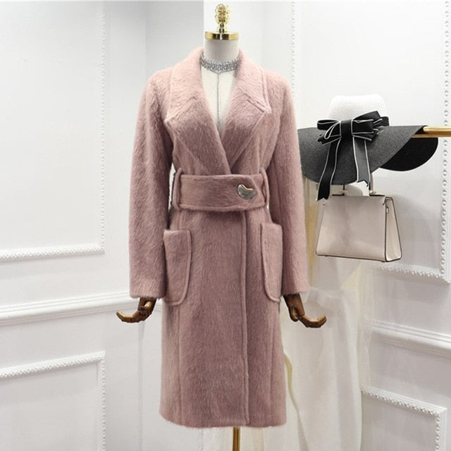 Women's Coat Long Sleeve Lapel Collar