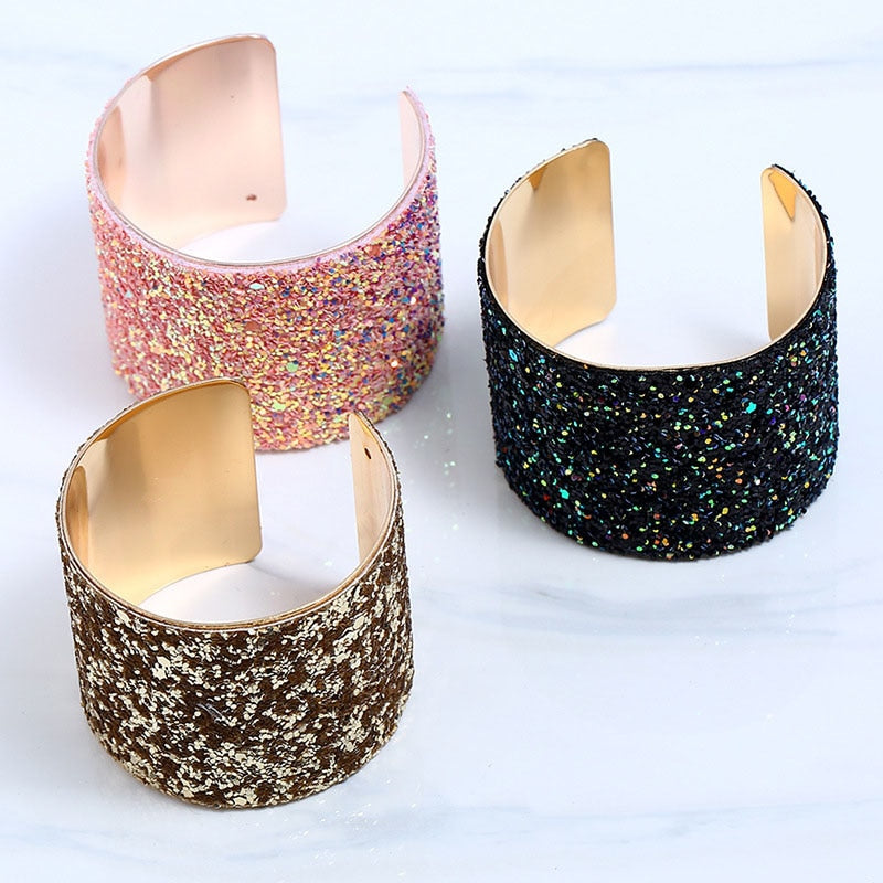 RE New Arrival Alloy Sequined Bangle Bracelet