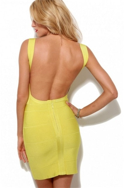 Backless Cocktail Party Dress - Narvay.com