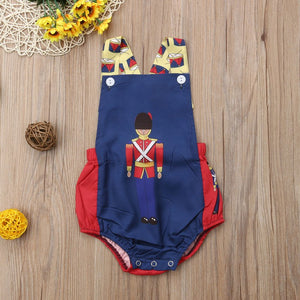 Newborn Baby Christmas Cartoon Romper