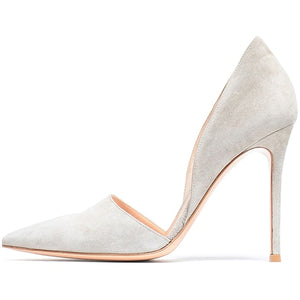 Pointed Toe Woman Faux Suede Pumps